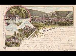 Ansichtskarte AK: Gruss aus Blaubeuren 1897