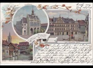 Ansichtskarte AK: Gruss aus Erfurt 1889