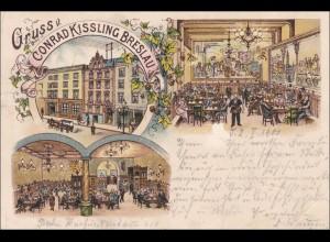 Ansichtskarte AK: Gruss von Conrad Kissling Breslau 1900
