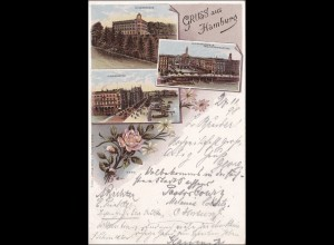 Ansichtskarte 1898 AK: Gruss aus Hamburg