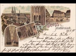 Ansichtskarte AK: Gruss aus Halberstadt 1898
