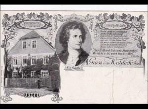 Ansichtskarte AK: Gruss aus Waldeck/Thüringen 1923