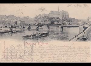 Ansichtskarte AK: Gruss aus Meissen 1898, Schiff