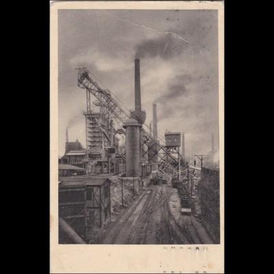 Ansichtskarte AK: Duisburg, Hochofenanlage Phönix, Demag, 1914