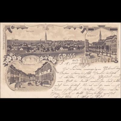Ansichtskarte AK: Gruss aus Münchberg 1900