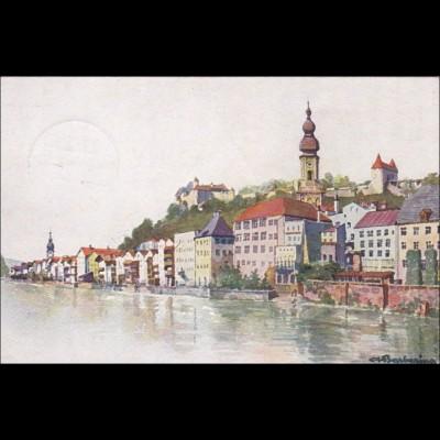 Ansichtskarte AK: Burghausen a. d. Salzach 1917
