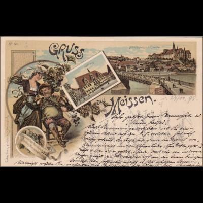 Ansichtskarte AK: Gruss aus Meissen 1898