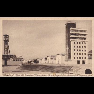 Ansichtskarte AK: Düsseldorf Gesolei, Förderturm, Feuerwehr Übungsturm 1926