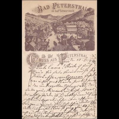Ansichtskarte AK: Bad Petersthal Schwarzwald, Gruss aus ..., 1896