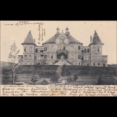 Ansichtskarte AK: Nagold 1906