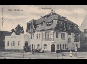 Ansichtskarte AK: Bad Dürrheim, Hotel Krone, 1907