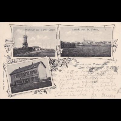 Ansichtskarte AK: Gruss vom Restaurant St. Privat 1902