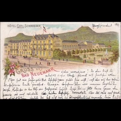 Ansichtskarte AK: Gruss aus Bad Neuenahr 1899