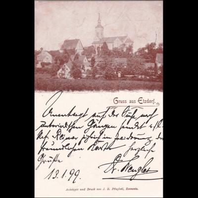 Ansichtskarte AK: Gruss aus Etzdorf /Rosswein 1899