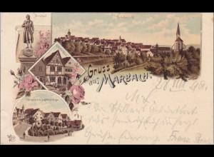 Ansichtskarte AK: Gruss aus Marbach 1899