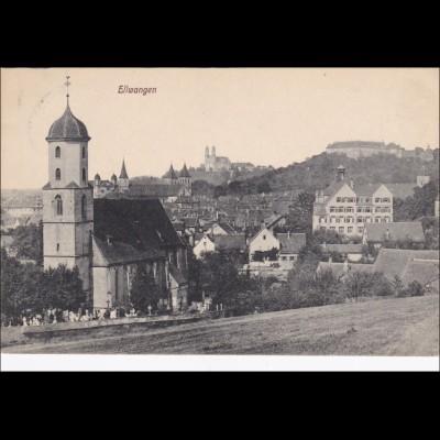 Ansichtskarte AK: Ellwangen 1918