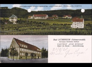 Ansichtskarte AK: Bad Dürrheim/Schwarzwald Gasthof Rössle 1928