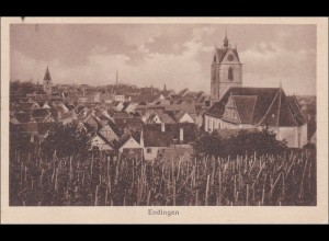 Ansichtskarte AK: Endingen, Zugstempel Frankfurt -Basel 1920