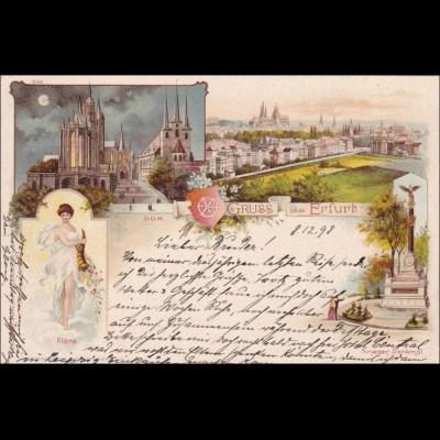 Ansichtskarte AK: Gruss aus Erfurt 1898