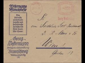 Freistempel: Verlagsbuchhandlung Braunschweig 1926 nach Wien