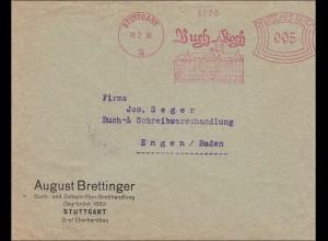 Freistempel: Buch Koch Stuttgart nach Engen 1930