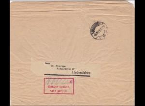 Gebühr bezahlt: Hamburg 1923 nach Hadersleben