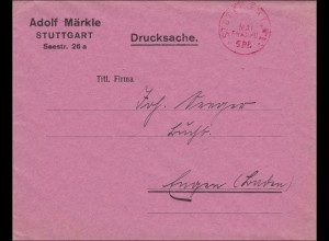 Gebühr bezahlt: Drucksache Brief