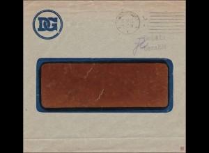 Gebühr bezahlt: Magdeburg, Discount Gesellschaft 1923