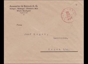 Gebühr bezahlt: Auwärter&Bubeck Stuttgart