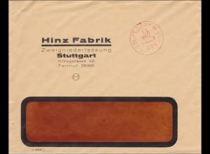 Gebühr bezahlt: Hinz Fabrik Stuttgart, Königstrasse
