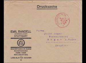 Gebühr bezahlt: Reklameartikel von Stuttgart, Drucksache - Franko