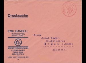 Gebühr bezahlt: Reklameartikel von Stuttgart, Drucksache