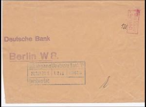 Gebühr bezahlt: Brief der Deutschen Bank 1923