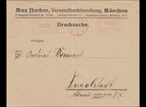 Gebühr bezahlt: Brief aus München nach Ingolstadt 1923, seltener Freistempel