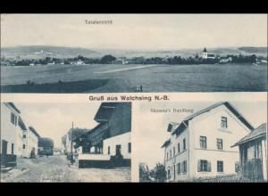 Bahnpost: Ansichtskarte aus Walchsing /Aldersbach nach München 1926