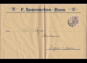 Perfin: Soennecken Bonn F.S. 1916