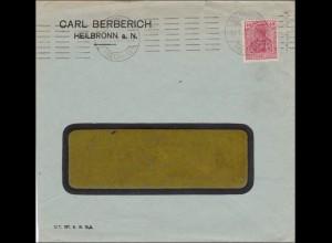 Perfin: Carl Berberich, Heilbronn 1921, CB