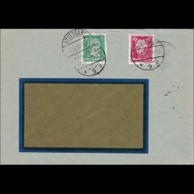 Perfin: Brief aus Stuttgart, Emil Bandell, 1928, EB8