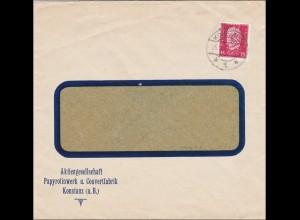 Perfin: Brief aus Konstanz, Papyrolinwerk, PCK, 1930