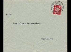 Perfin: Brief aus Freiburg 1925, I-I