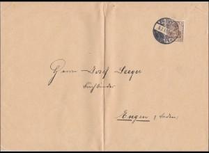 Perfin: Brief aus Freiburg, 1913, I-I