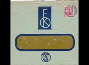 Perfin: Brief aus Kirchheim Teck, 1914, FK