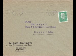 Perfin: Brief aus Stuttgart, August Brettinger, 1929, K.N.O.