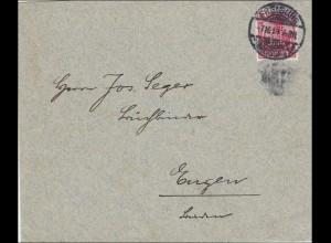 Perfin: Brief aus Freiburg1913, H
