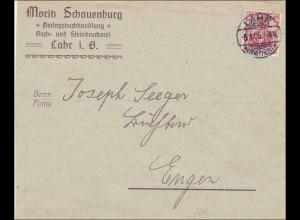 Perfin: Brief aus Lahr/Baden, 1909, Moritz Schauenburg, MS