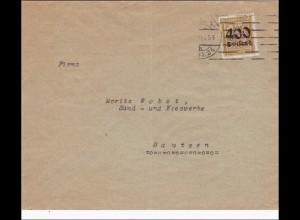 Perfin: Brief 1923 nach Bautzen