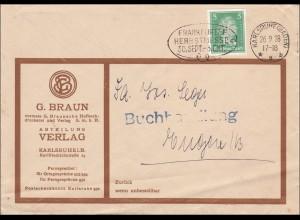 Perfin: Brief aus Karlsruhe 1928, G. Braun Verlag,