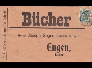 Perfin: Büchersendung aus Leipzig 1908, G.S.