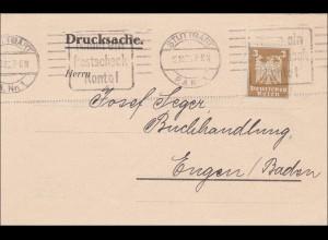 Perfin: Drucksache Stuttgart 1925, EF, Münsterbaulotterie Überlingen