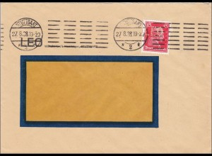 Perfin: Brief aus Stuttgart, 1928, LEO